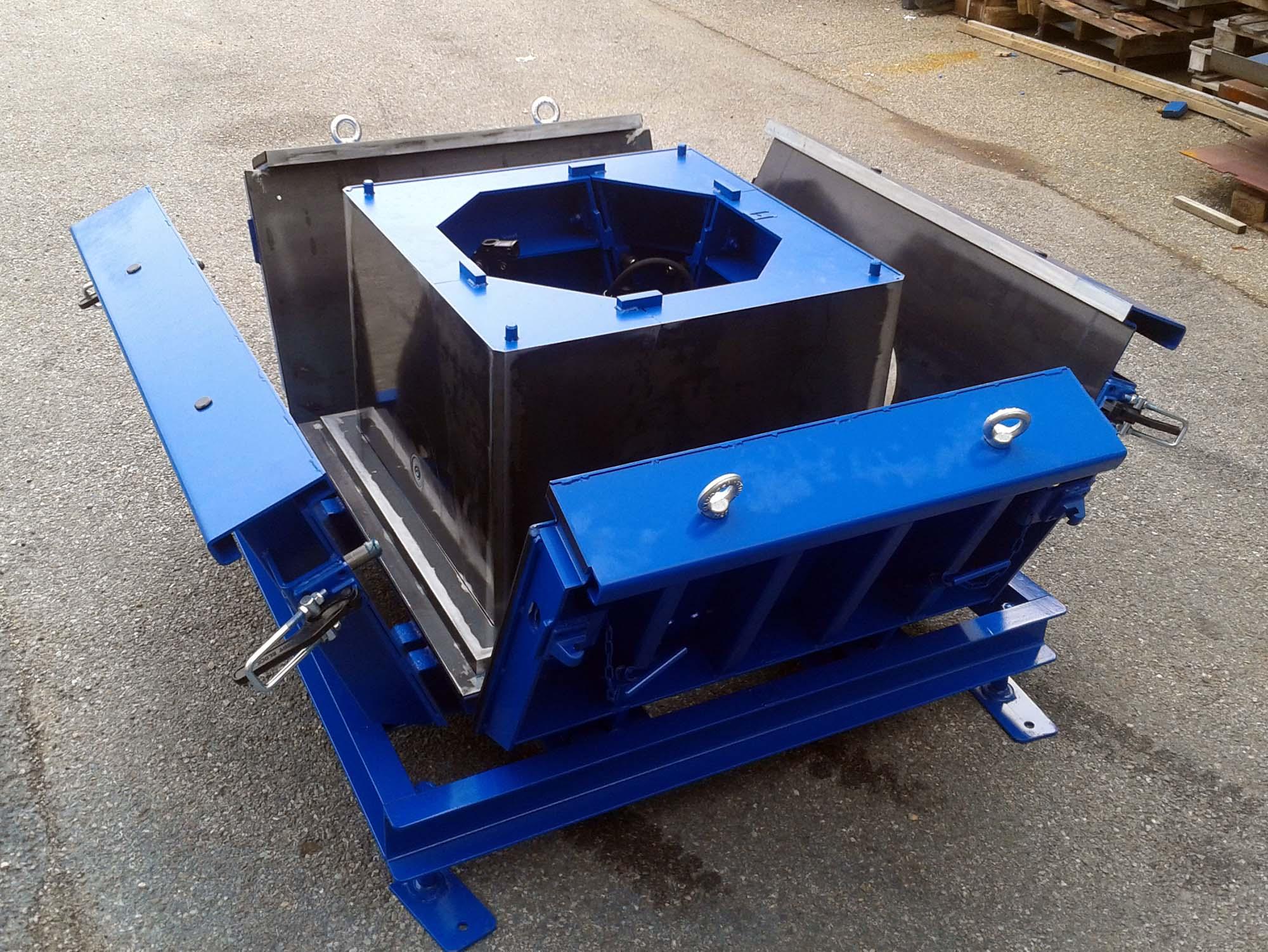 Moule de préfabrication béton pour chambre de tirage pour les Chemins de Fer Fédéraux Suisse CFF