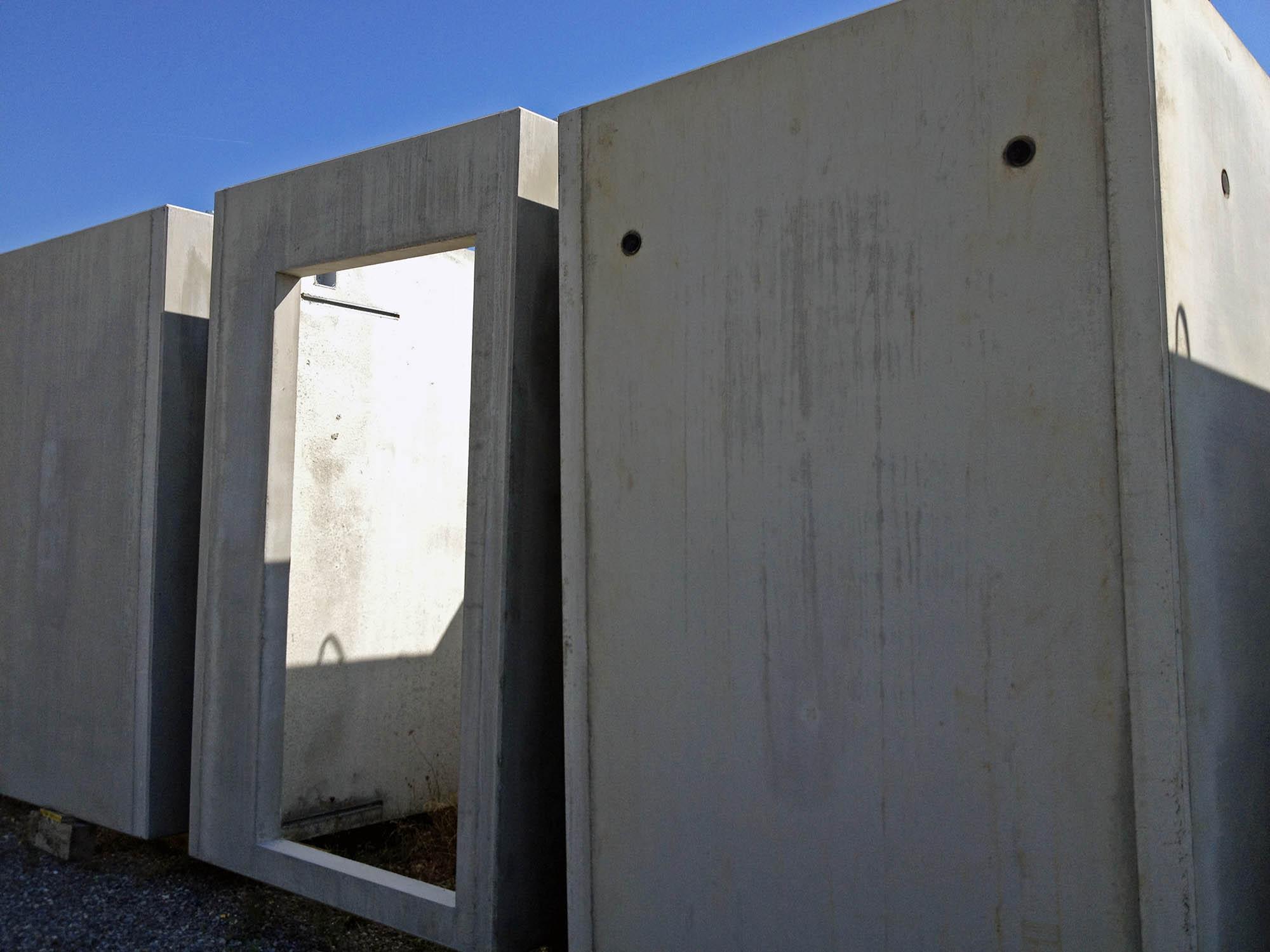 Cages d'ascenseur produites sur le chantier