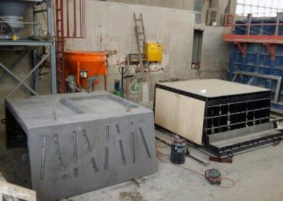 Elément de la passerelle en BFUP du Bouveret Suisse - 04/12/2017 - Elément SA, usine de Tavel