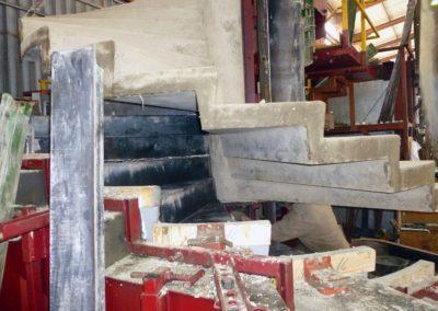 Moule d'escalier béton hélicoïdal