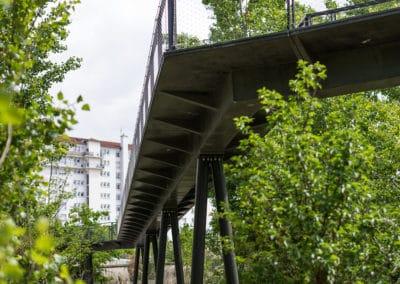 Passerelle du parc Blandan BFUP beton architectonique