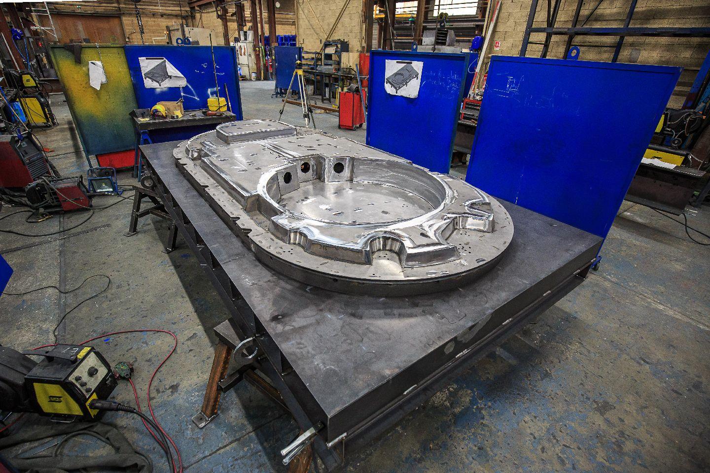 pièce complexe d'un moule de préfabrication